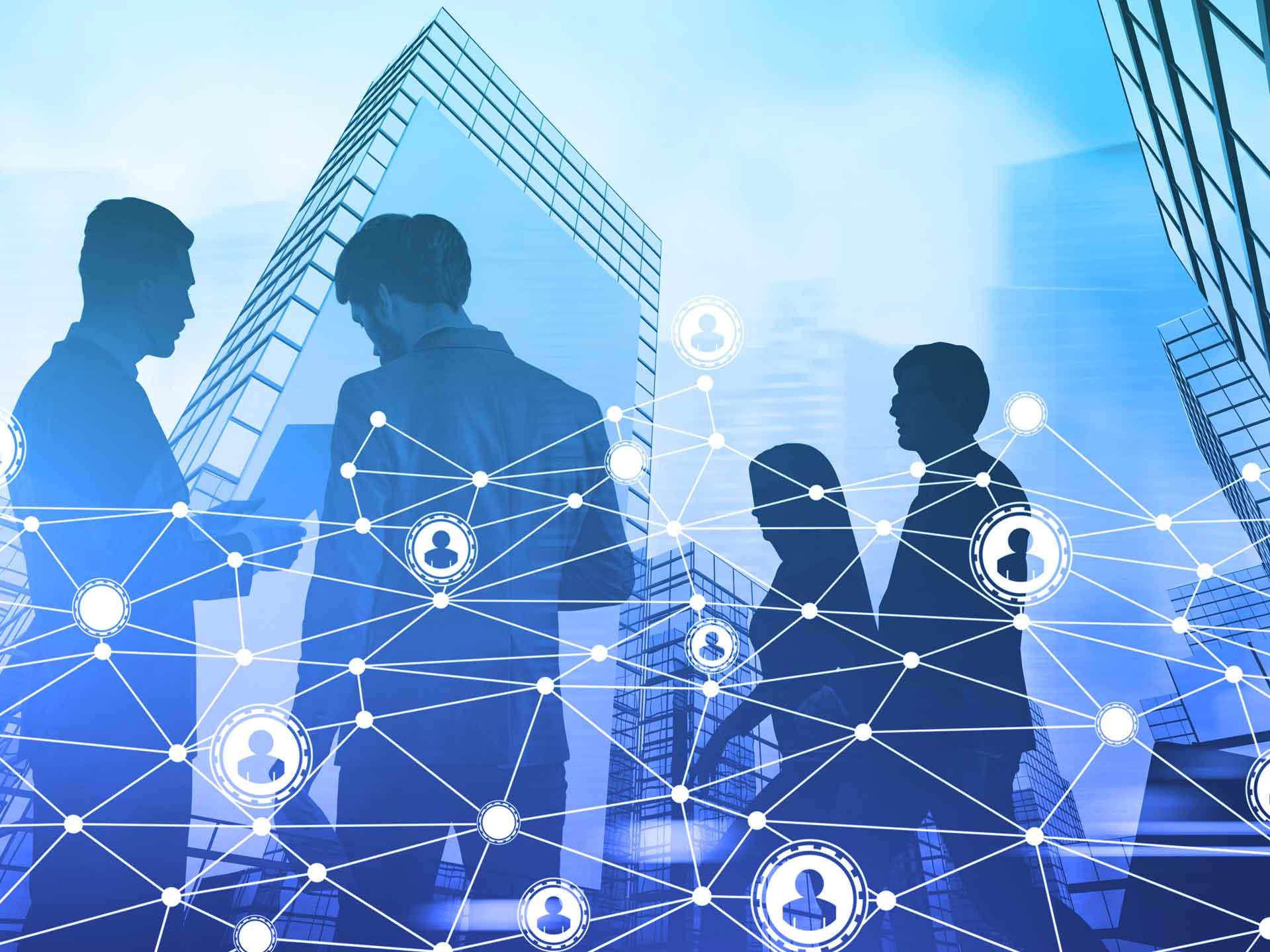 Yammer hilft Ihnen, sich unternehmensweit zu vernetzen und in Kontakt zu bleiben.