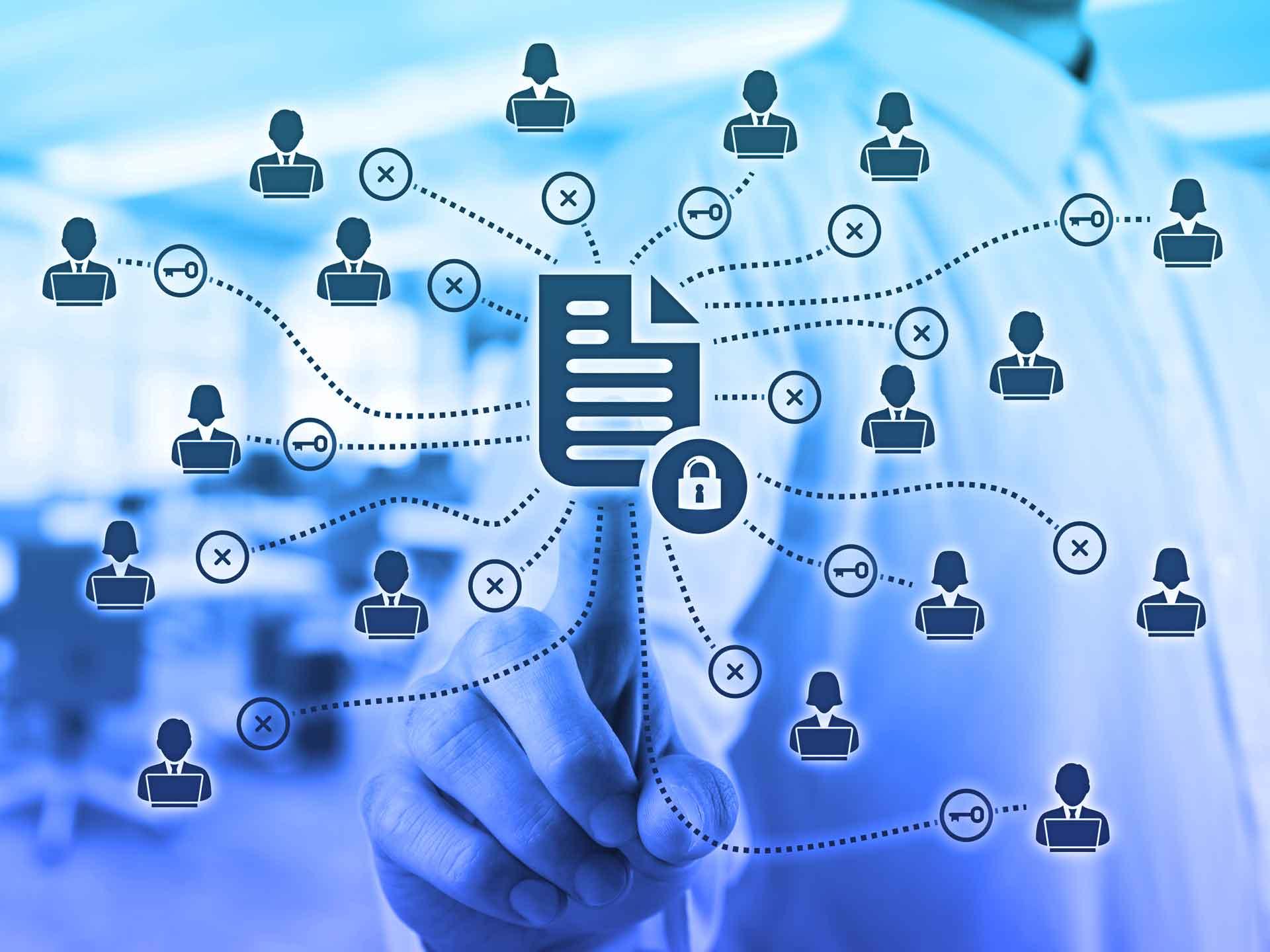 Yammer bietet Ihnen intelligente Sicherheit, Compliance und Kontrolle, damit Ihre Daten geschützt sind.