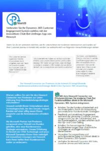 Verbinden Sie Ihr Microsoft Dynamics Customer Engagement System nahtlos mit der innovativen, Chat-ähnlichen Kundenfeedback-Umfrage-App von Howazit
