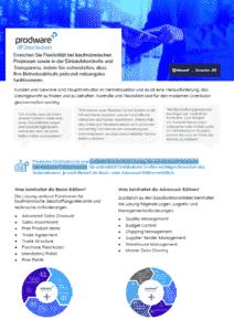 Prodware Distribution basiert auf Microsoft Dynamics 365 Business Central und unterstützt Distributoren in allen wichtigen Bereichen.