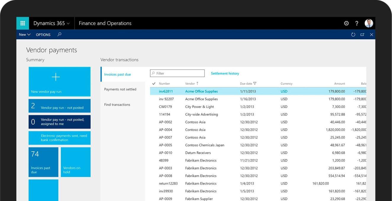 Screenshot 6 Finance and Operations