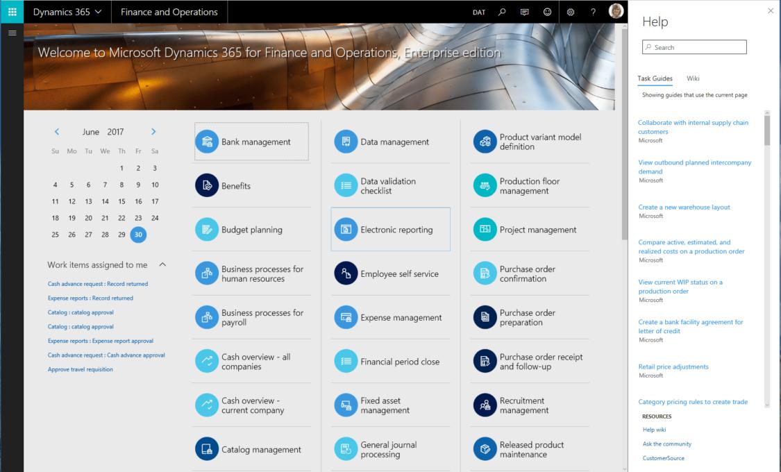 Screenshot 7 Finance and Operations