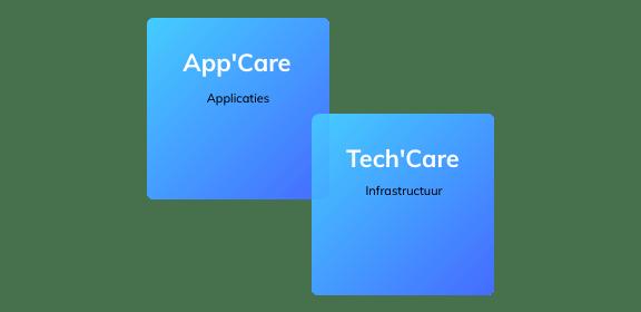 App'Care voor applicatiediensten en Tech'Care voor infrastructuurdiensten