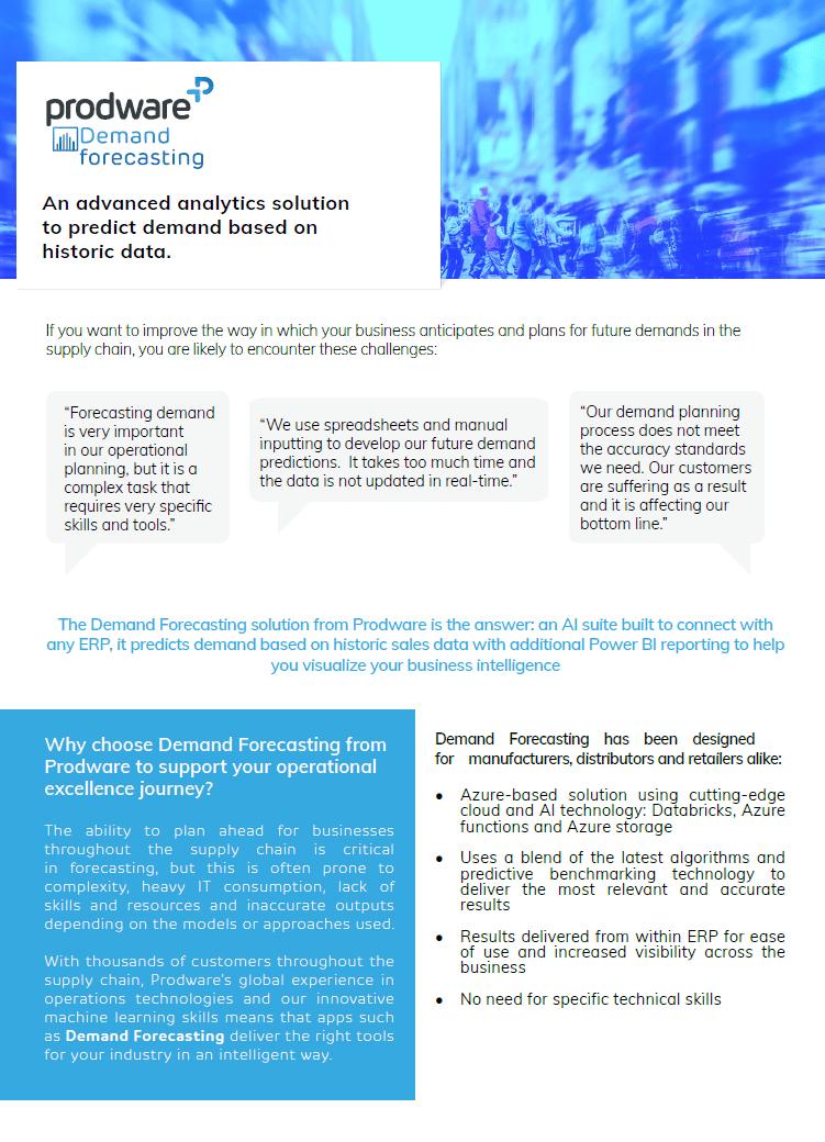 Demand Forecsating Universal ERP brochure thumbnail