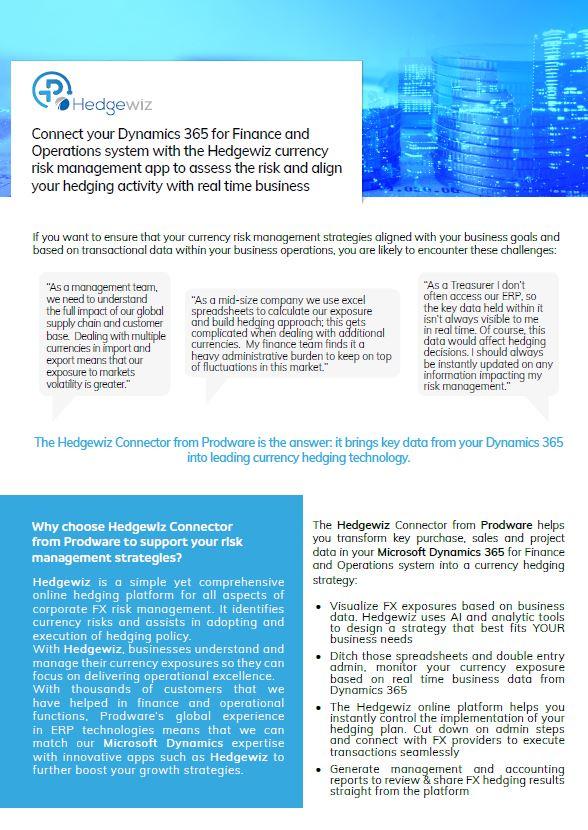 Hedgewiz currency risk management brochure thumbnail