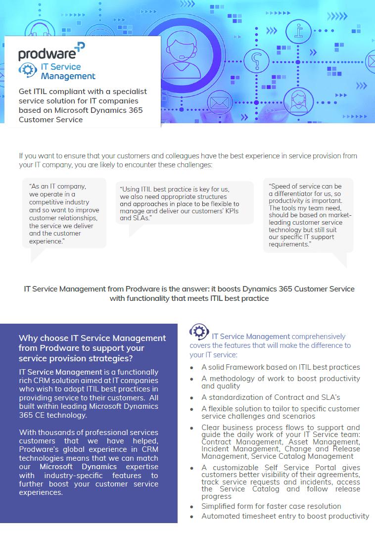 IT Service Management brochure thumbnail