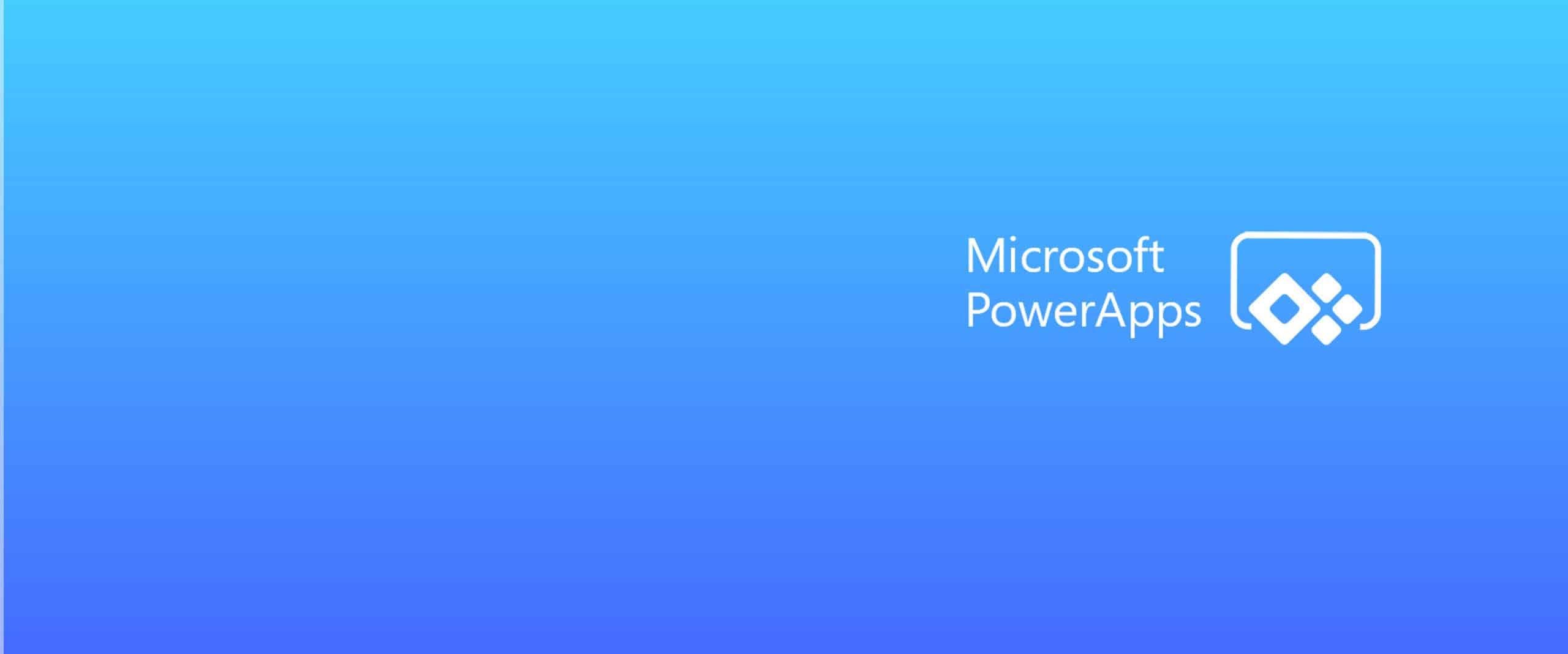 Microsoft PowerApps header