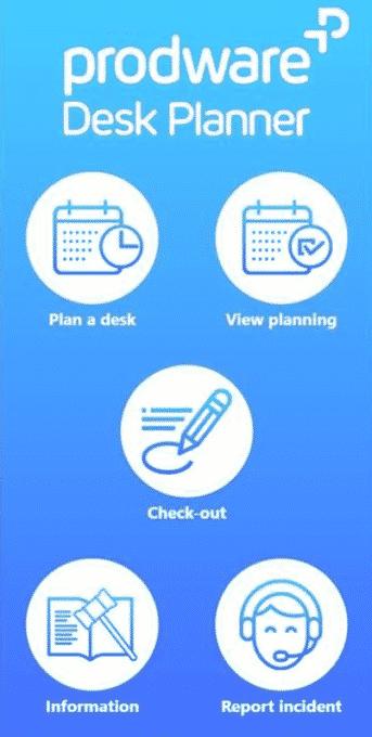 Desk Planner mobile app