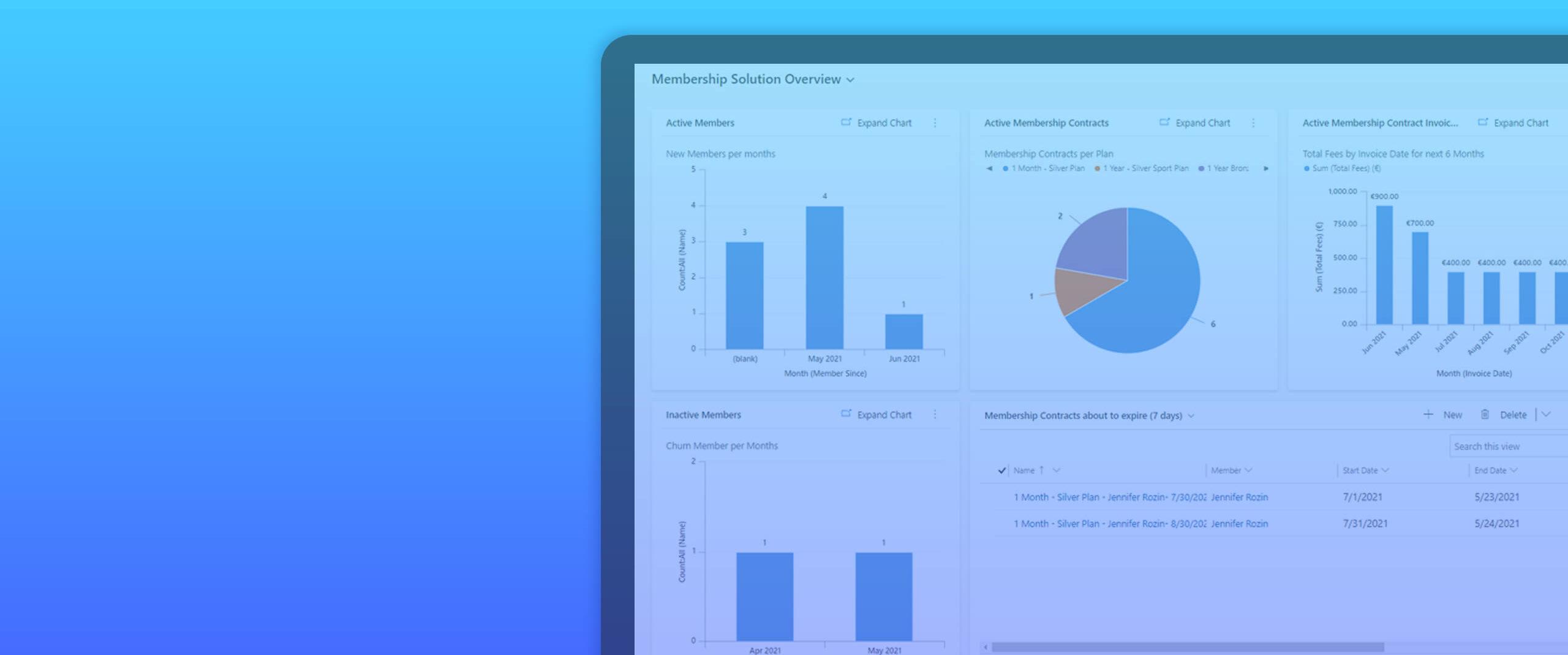 Membership solution for Dynamics 365 Customer Engagement header